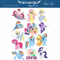 "Стикеры А5 ""My Little Pony"""