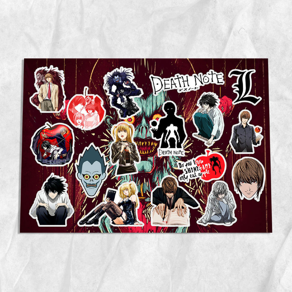 "Стикеры А4 ""Death Note"" фото 1 —"